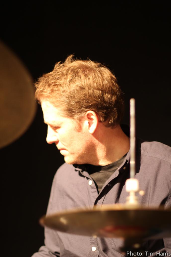 Carsten Lindholm, drummer, photo: Tom Harris